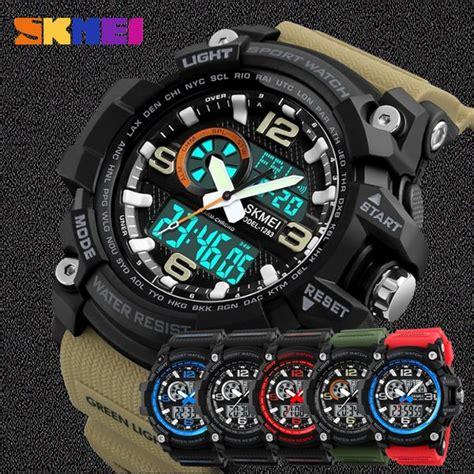 jual jam tangan pria skmei original anti air   lapak