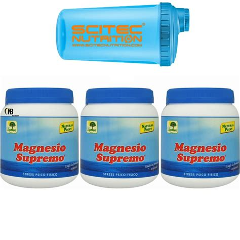 magnesio supremo point prezzo magnesio supremo point 3 x 300 gr 900 mag citrato