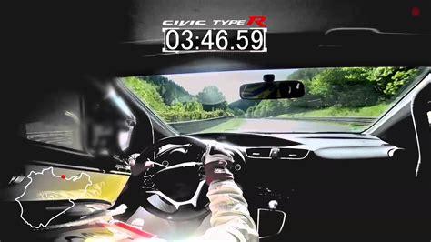 Civic Type R Nurburgring Time by 2015 Civic Type R Development Car Achieves N 252 Rburgring