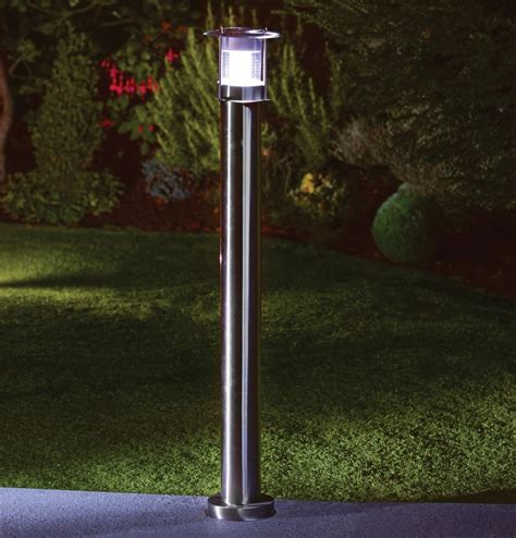 outdoor solar floor l outdoor ls stainless steel led white solar lawn light