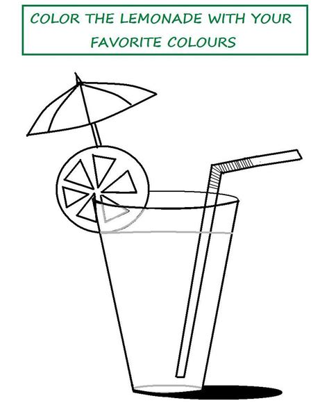 free coloring pages of lemonade