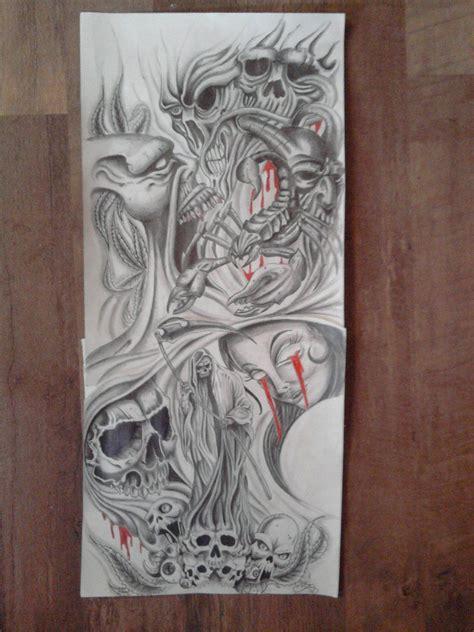 tattoo sleeve designs roses skulls sleeve design by karlinoboy deviantart on deviantart