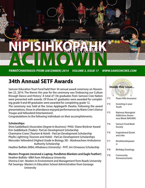 Athabasca Mba Login by Nipisihkopahk Acimowin By Samson Cree Nation Issuu
