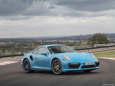 miami blue porsche wallpaper 2016 porsche 911 turbo s coupe color miami blue front
