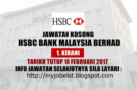 Hsbc Bank Malaysia Search Jawatan Kosong Hsbc Bank Malaysia Berhad 10 Februari