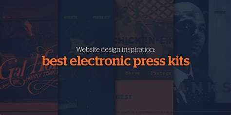 website design inspiration best electronic press kits epks