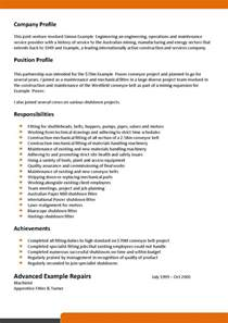 mechanical and maintenance fitter resume template 093