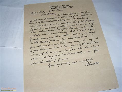 saving lincoln letter saving abe lincolns letter replica prop