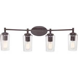 Bathroom Vanity Lights Quoizel Eds8604wt Edison Vintage Western Bronze Finish 32 5 Quot Wide 4 Light Bathroom Vanity Light