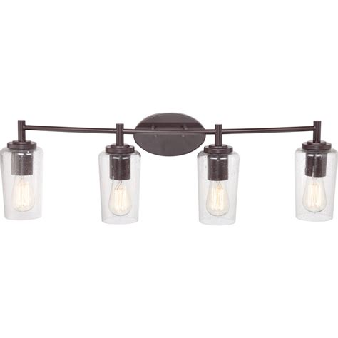Vintage Bathroom Lighting with Quoizel Eds8604wt Edison Vintage Western Bronze Finish 32 5 Quot Wide 4 Light Bathroom Vanity Light