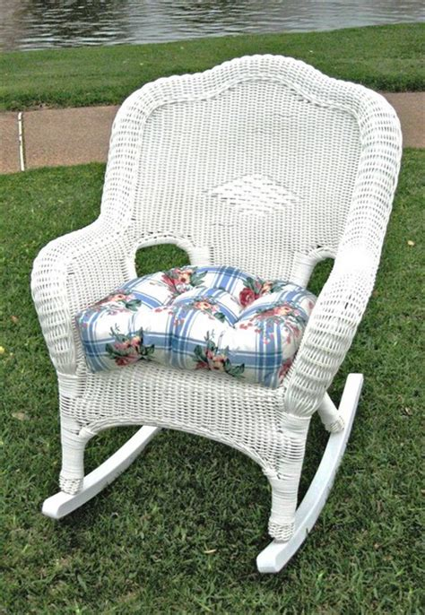 White Wicker Rocking Chair Outdoor by Wicker Resin Steel Patio Rocking Chair White