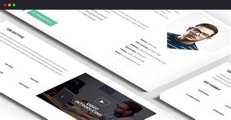 Resume X Theme by Best I Am X Html Resume Template Trendy Theme