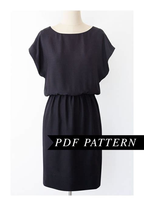 Dress Pattern Kimono Sleeve | easy short sleeved dress pattern elastic waist short