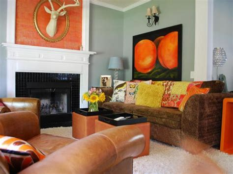 Brown And Orange Home Decor by How To Use Orange And Blue Color Schemes For Modern Interior Design And Decor