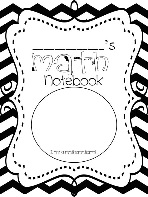 math journal coloring page first grade wow math notebooking