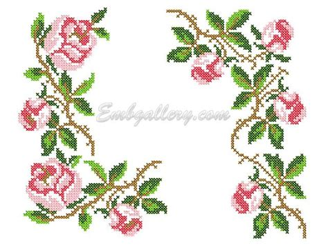 embroidery design cross stitch quot roses in the cross stitch technique quot machine embroidery