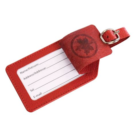 air canada printable luggage tags duty free air canada red leather luggage tag online from