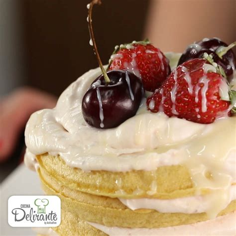 como decorar waffles como hacer torta de waffles cocinadelirante