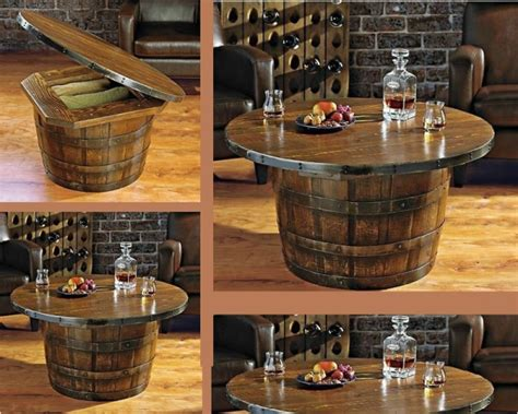 Wine Whiskey Barrel Coffee Table Tips On How To Make It How To Make A Wine Barrel Coffee Table