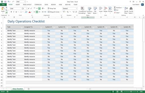operating schedule template operations guide ms word template