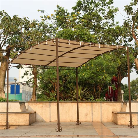 sand ikayaa 3 2 5 2 5m metal patio garden gazebo outdoor