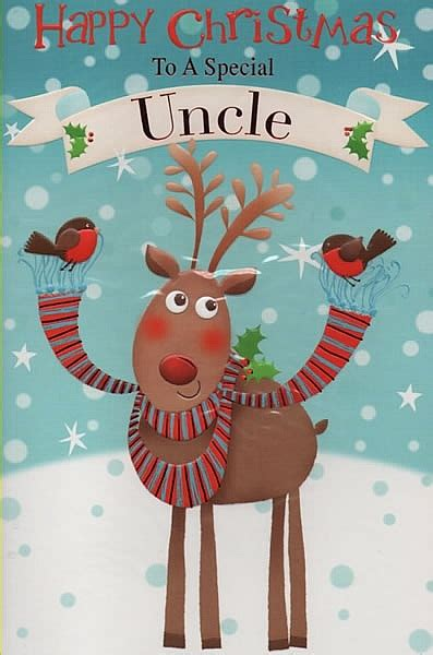 male relation christmas cards happy christmas   special uncle