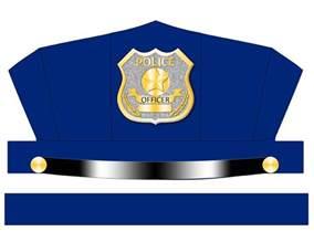 digital download blue police hat printable