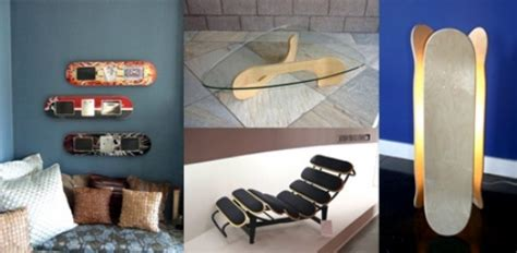 ideas for upcycled furniture design � skateboard parts