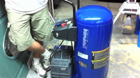 campbell hausfeld hj  gallon air compressor exclusive   youtube