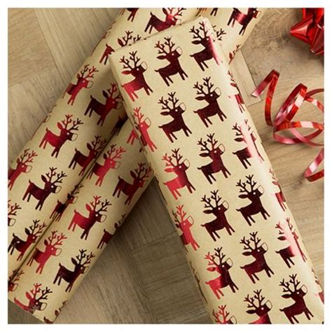 buy tesco kraft reindeer christmas wrapping paper 3m from