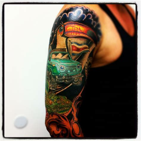 full color rod full sleeve tattoo jose bolorin