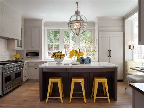 yellow and gray kitchen tolix in the kitchen home design ideas
