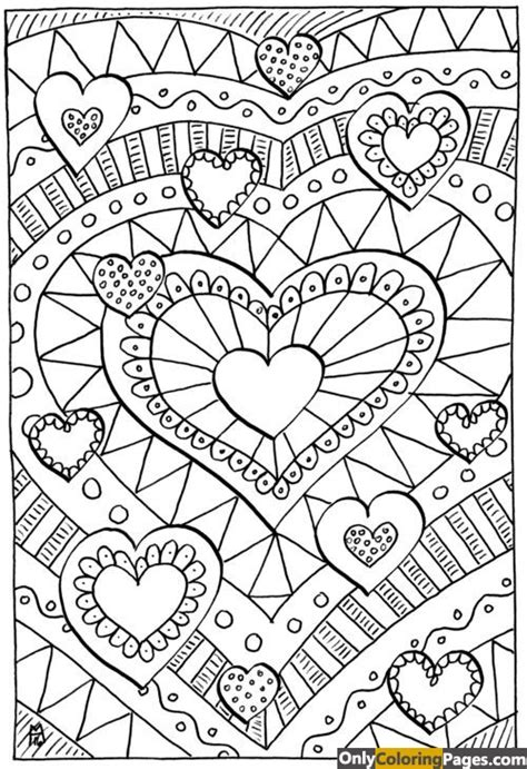 hard coloring pages of hearts detailed hard 12 hearts coloring pages wallpaper hd