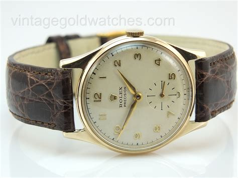 rolex precision 9k 1953 vintage gold watches