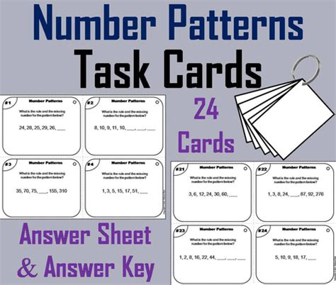 number pattern cards number patterns task cards by uk teaching resources tes