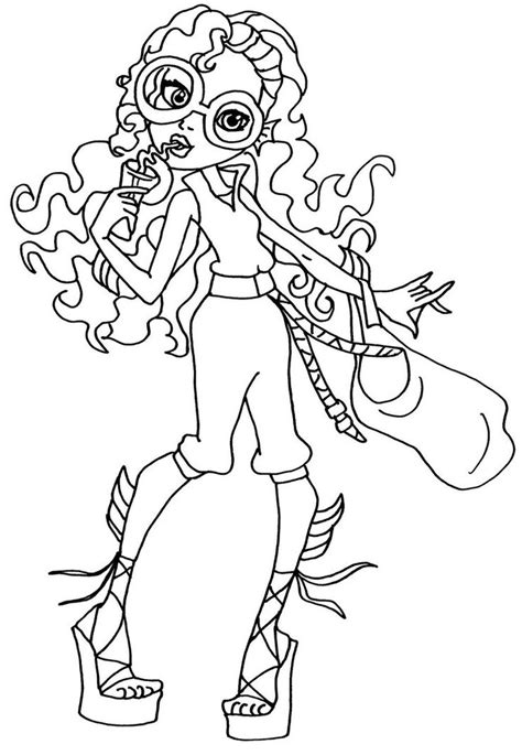 coloring pages monster high lagoona blue 1000 images about monster high coloring on pinterest