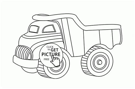 Simple Dump Truck Coloring Pages by Dump Truck Coloring Page For Transportation