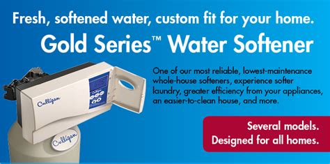 gold series softeners save salt water energy culligan