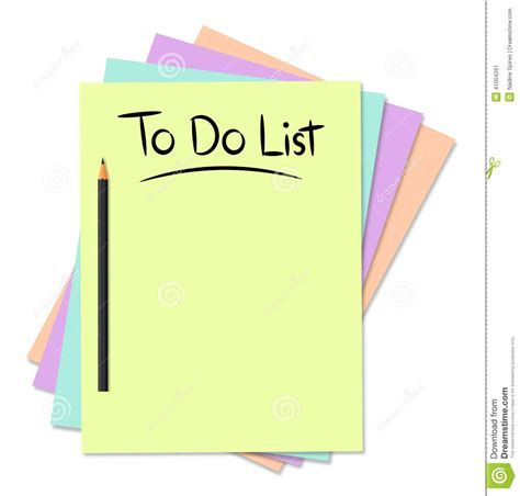 to do with to do list stock illustration image 41004261