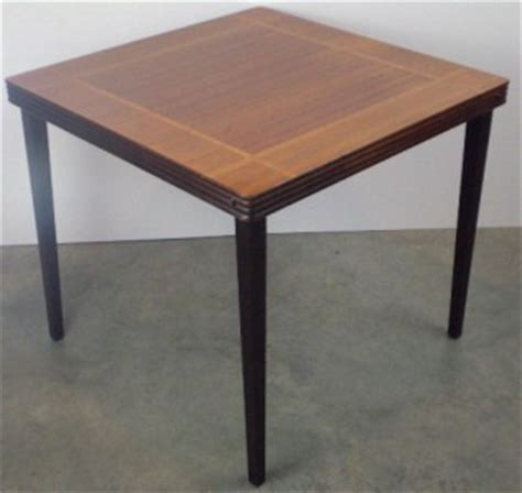 Wood Folding Card Table Vintage Castlewood Inlaid Mahogany Oak Wood Card Table Antique Folding Ebay