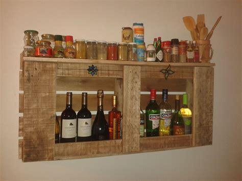 como hacer especiero de madera especiero botellero hecho con pallet muebles cocina