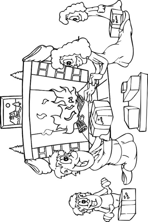 free coloring pages of christmas scene