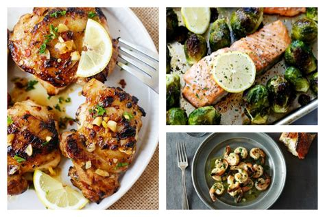 7 recipes that use only lemon garlic and olive oil to