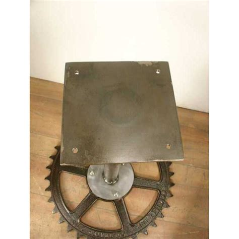 Antique Gear Pedestal Table Base