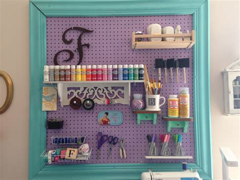 Pegboard Craft Room Craft Room Organization With A Framed Pegboard Southern