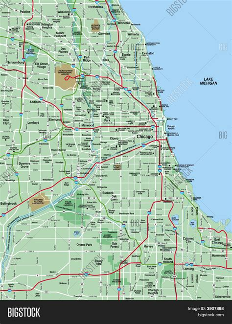 area map of map chicagoland area afputra