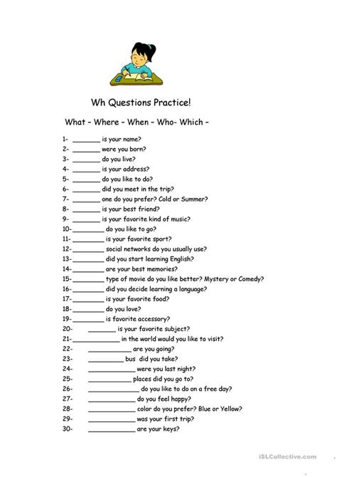 Wh Questions Worksheets by All Worksheets 187 Wh Questions Worksheets Free Printable