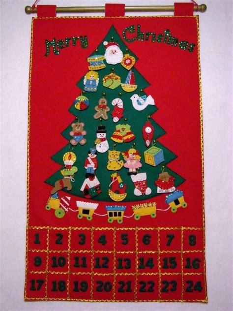 bucilla felt christmas tree advent calendar w ornaments