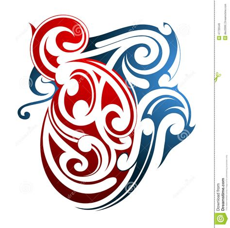 maori tattoo shape stock vector image 47735546