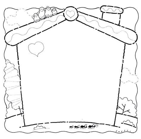 imagenes de lutos para el pin marcos y bordes escolares para colorear imagui boş